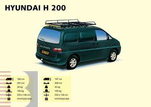 King Ping Dachträger, Gewerbe Transporter für Hyundai H 200 kurzes Chassis, Radstand 2810mm, Bj. Alle