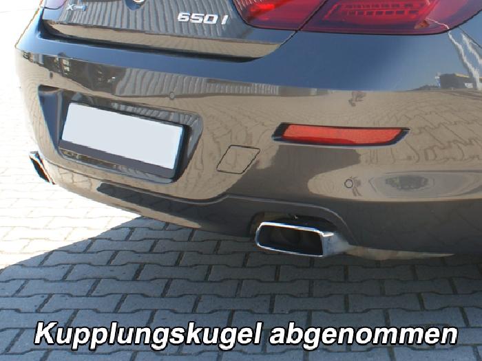 Anhängerkupplung für BMW-6er - 2015- Coupe F13 m. M Sportpaket, Anhängelastfreigabe prüfen, ohne nur für Heckträgerbetrieb, Montage nur bei uns im Haus Ausf.:  vertikal
