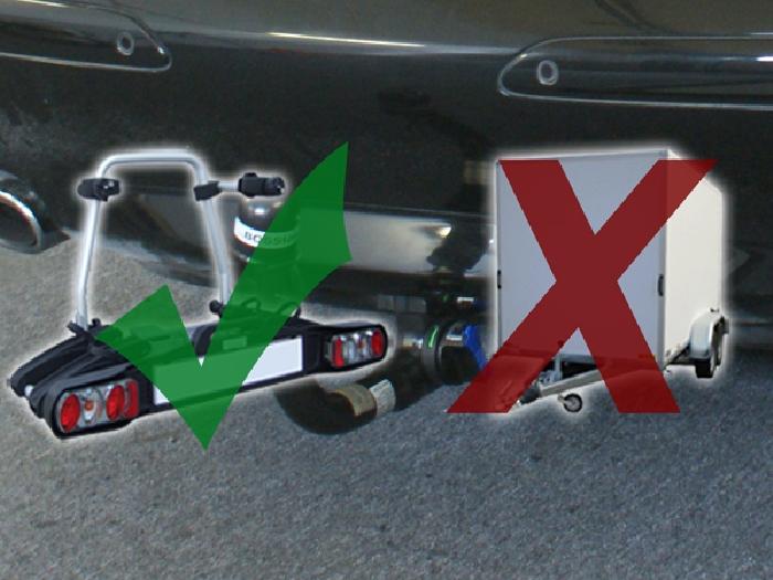 Anhängerkupplung für Mercedes-SL - 2006-2008 R 230 II, nur für Heckträgerbetrieb Ausf.:  vertikal