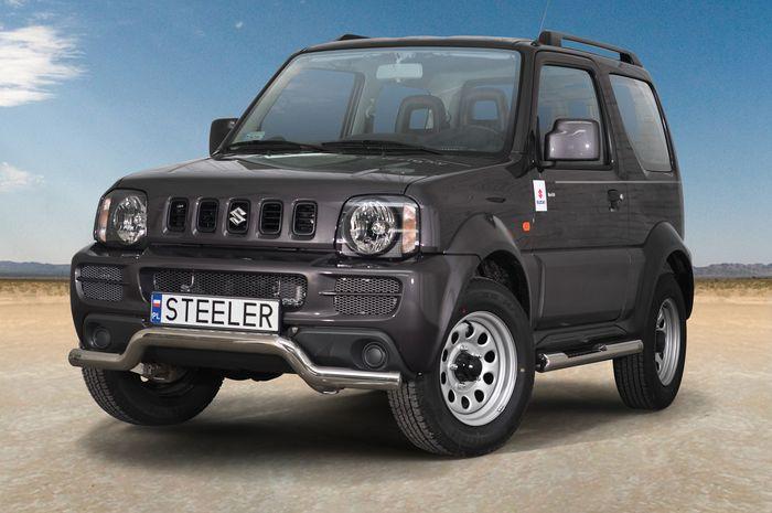 Frontschutzbügel Kuhfänger Bullfänger Suzuki Jimny 2005-2012, Sportbar 70mm, schwarz beschichtet