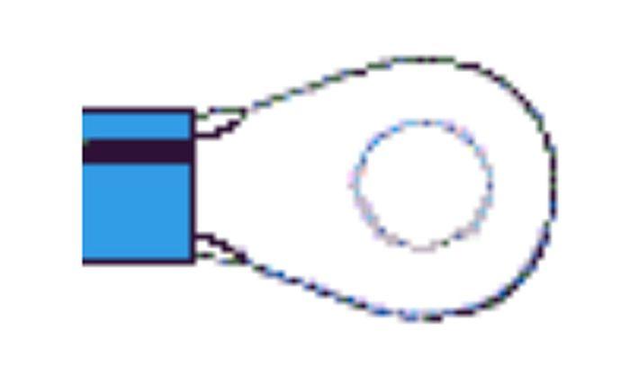 Ringkabelschuh blau, bis 2,5qmm, 6mm, Lieferumfang 1 Stk