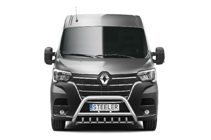 Frontschutzbügel Kuhfänger Bullfänger Renault Master 2019-, Steelbar QRU 70mm