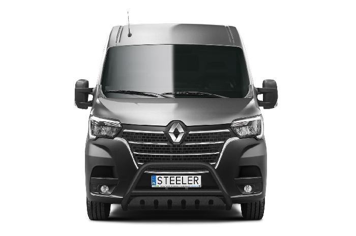 Frontschutzbügel Kuhfänger Bullfänger Renault Master 2019-, Steelbar QFU 70mm, schwarz beschichtet