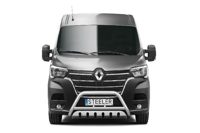 Frontschutzbügel Kuhfänger Bullfänger Renault Master 2019-, Steelbar QFU 70mm