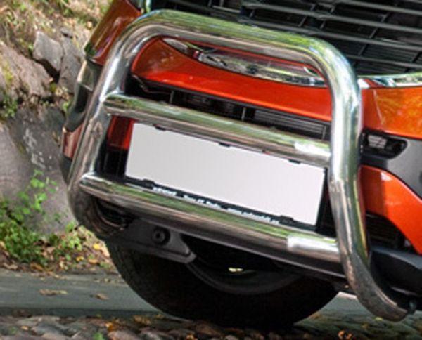 Frontschutzbügel Kuhfänger Bullfänger Peugeot Boxer 2006-2014, Frontbügel 60mm Edelstahl