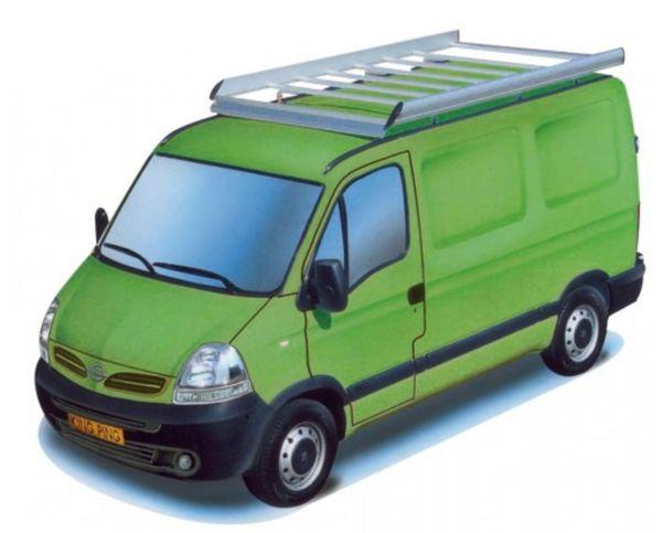 King Ping Dachträger, Gewerbe Transporter für Nissan Interstar L1, Radstand 3080mm Hochdach, Bj. 2003-