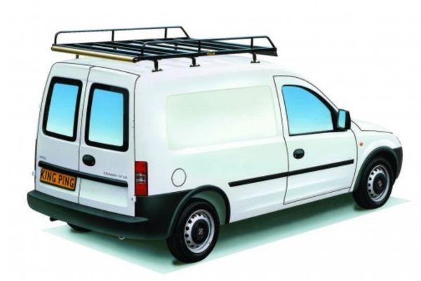 King Ping Dachträger, Gewerbe Transporter für Opel Combo, Radstand 2710mm, Flachdach, mit Heckklappe, Bj. 2002-