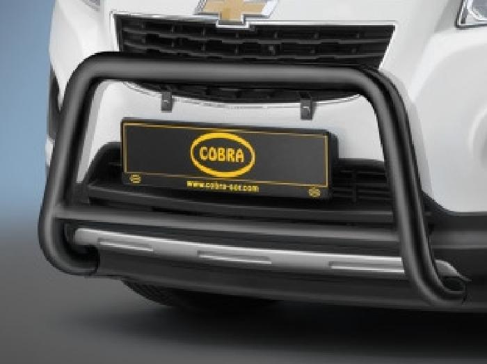 Frontschutzbügel Kuhfänger Bullfänger Opel Mokka 2012-2015, Frontbügel 60mm Stahl schwarz pulverbeschichtet