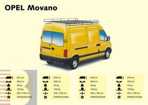 King Ping Dachträger, Gewerbe Transporter für Opel Movano, Radstand 4080mm, Hochdach, Bj. Alle