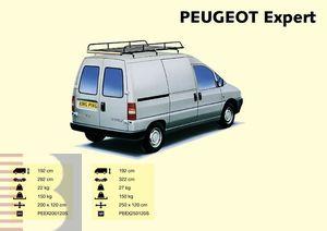 King Ping Dachträger, Gewerbe Transporter für Peugeot Expert Radstand 3224mm, Bj. 1996-2006
