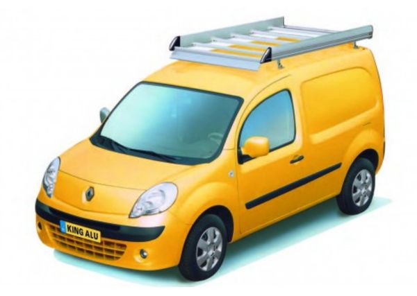 King Ping Dachträger, Gewerbe Transporter für Renault Kangoo, Radstand 2700mm, Flachdach, mit Hecktüren, Bj. 2007-