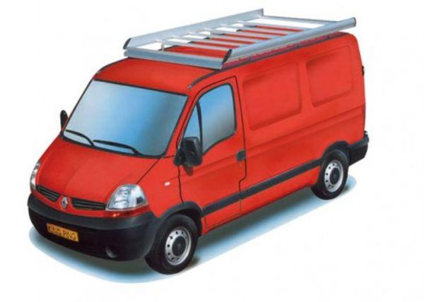 King Ping Dachträger, Gewerbe Transporter für Renault Master, Radstand 3080mm, Flachdach, Bj. 1998-