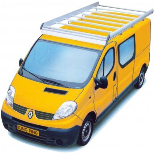 King Ping Dachträger, Gewerbe Transporter für Renault Trafic, Radstand 3500mm, Hochdach, Bj. 2001-