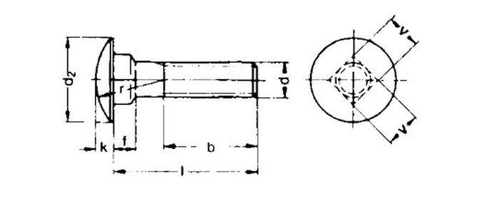 Schlossschraube M6x70, vz, 200 Stk.