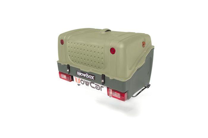 TowBox System BOX System BOX V1, grün, Toplader AHK Lastenträger