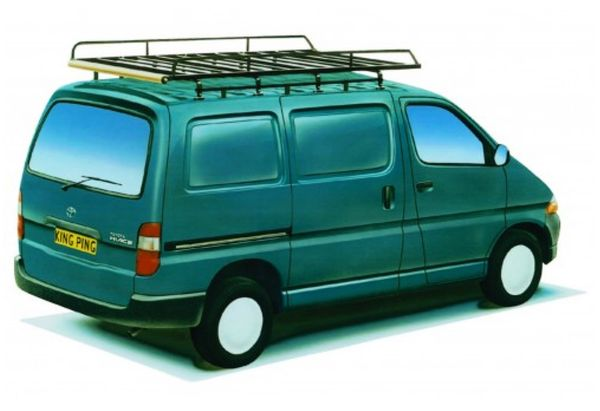 King Ping Dachträger, Gewerbe Transporter für Toyota Hiace, Radstand 2990mm, Bj. 1996-