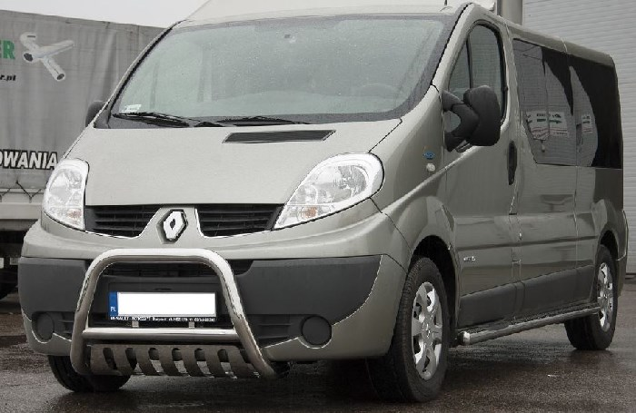 Frontschutzbügel Kuhfänger Bullfänger Renault Trafic 2001-2014, Steelbar QFU 70mm