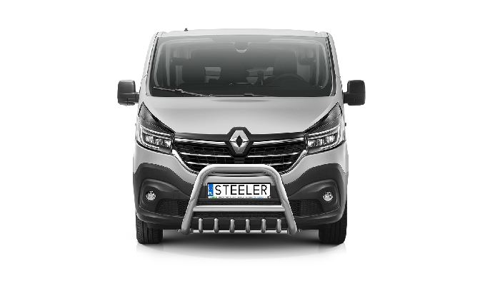 Frontschutzbügel Kuhfänger Bullfänger Renault Trafic 2019-, Steelbar QRU 70mm