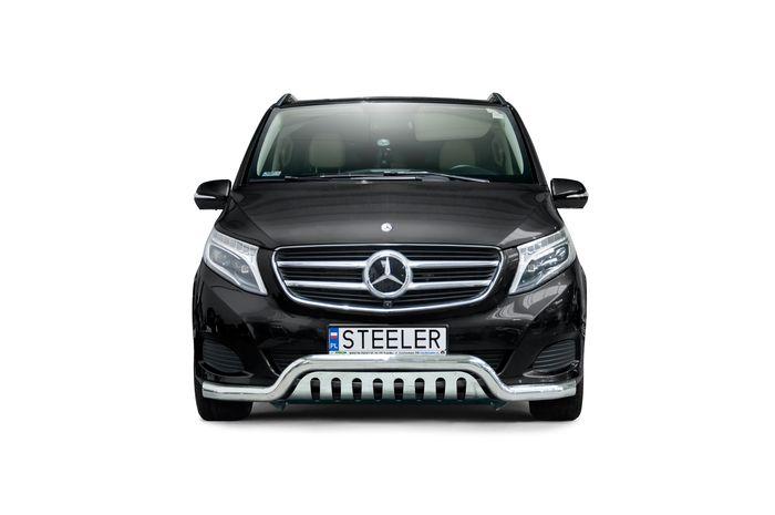 Frontschutzbügel Kuhfänger Bullfänger Mercedes V-Klasse 2014-, Sportbar UF 70mm