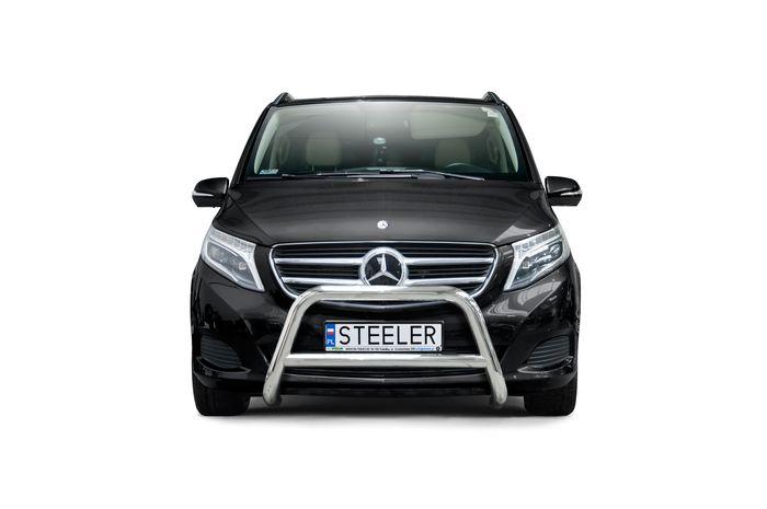 Frontschutzbügel Kuhfänger Bullfänger Mercedes V-Klasse 2014-, Steelbar Q 70mm