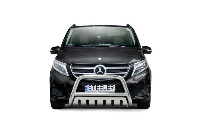 Frontschutzbügel Kuhfänger Bullfänger Mercedes V-Klasse 2014-, Steelbar QFU 70mm