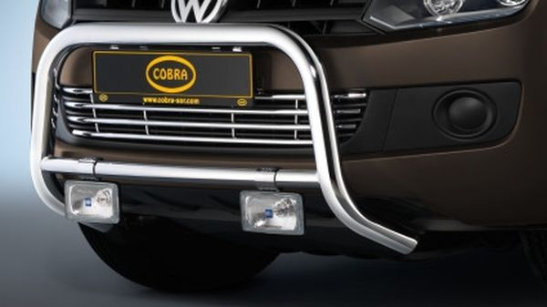 Frontschutzbügel Kuhfänger Bullfänger VW Amarok 2010-2016, Frontbügel 60mm Edelstahl ohne Stoßfängerblende