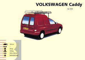 King Ping Dachträger, Gewerbe Transporter für VW Caddy Modell verlängerter Dachträger, Bj. 1982-2004
