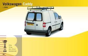 King Ping Dachträger, Gewerbe Transporter für VW Caddy Maxi, Radstand 3000mm, Flachdach mit Hecktüren, Bj. 2004-