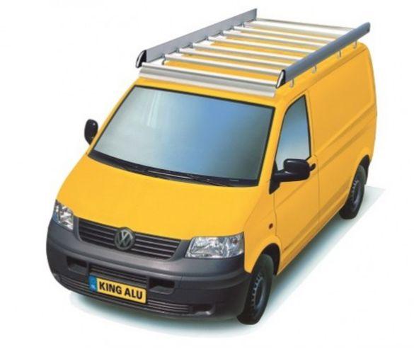 King Ping Dachträger, Gewerbe Transporter für VW T5, Radstand 3400mm, Flachdach, mit Hecktüren, Bj. 2003-2015