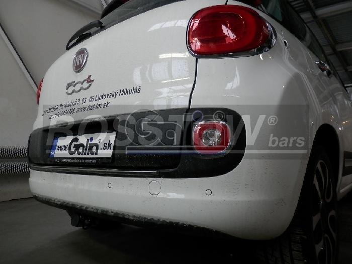 Anhängerkupplung für Fiat-500 L - 2012-2014 Trekking Ausf.:  horizontal