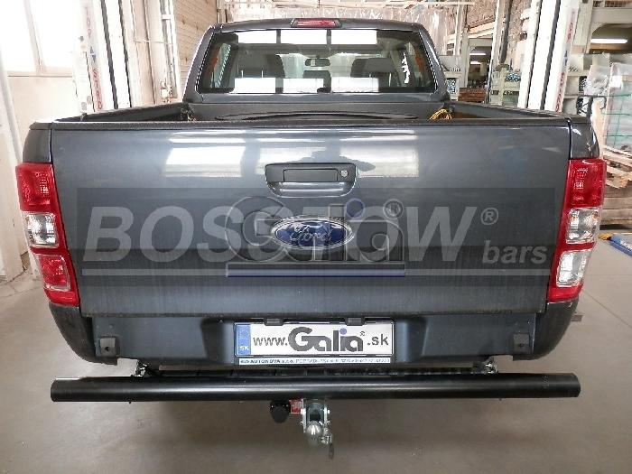 Anhängerkupplung für Ford-Ranger - 2016- 4x4 WD m. Trittbrett f. Fahrzeuge mit Elektrosatz Vorbereitung Ausf.:  horizontal