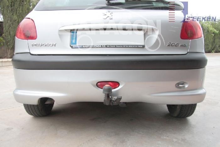Anhängerkupplung für Peugeot-206 - 2003- CC Cabrio Ausf.:  horizontal