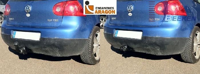 Anhängerkupplung VW Golf VII Limousine, nicht 4x4, Baureihe 2014-2017  horizontal
