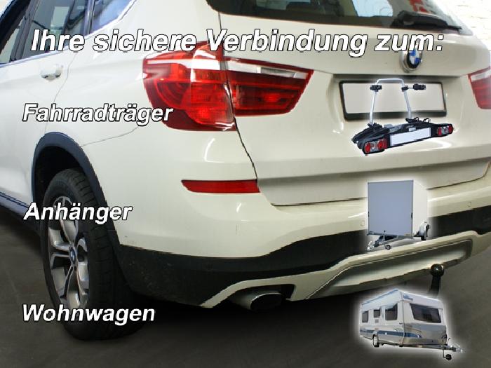 Anhängerkupplung BMW X3 F25 Geländekombi, Baureihe 2014-  vertikal