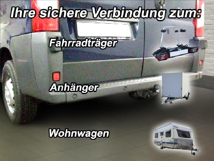 Anhängerkupplung für Citroen-Jumper - 2014- Kasten, Bus, alle Radstände L1, L2, L3, L4, XL Ausf.:  feststehend