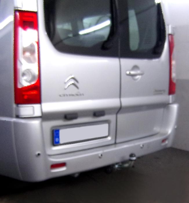 Anhängerkupplung Citroen Jumpy Kasten/ Bus/ Kombi, spez. auch mit Einparksensoren- PDC, Baureihe 2007-2016  horizontal