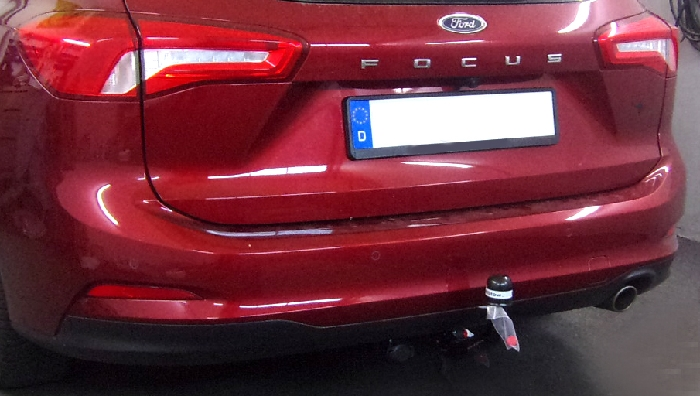 Anhängerkupplung Ford Focus Kombi, nicht RS, ohne Elektrosatzvorbereitung, Baureihe 2018-  vertikal