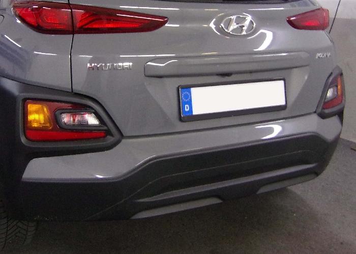 Anhängerkupplung Hyundai Kona Fzg. ohne E-satz Vorbereitung, nicht AdBlue, Baureihe 2017-  vertikal