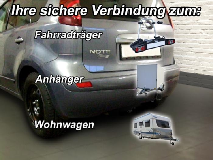 Anhängerkupplung für Nissan-Note - 2006-2013 Ausf.:  feststehend