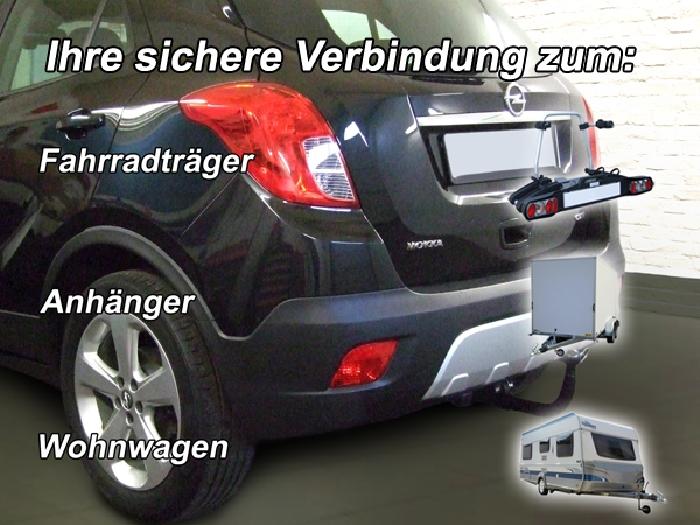 Anhängerkupplung für Opel-Mokka X - 2016- nicht für Fzg. mit Fahrradträgersystem Flex-Fix Ausf.:  vertikal
