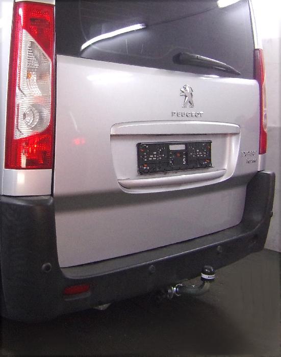 Anhängerkupplung für Peugeot-Expert - 2007-2016 Kasten/ Bus/ Kombi, spez. auch mit Einparksensoren- PDC Ausf.:  horizontal