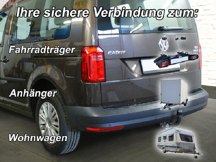 Anhängerkupplung für VW-Caddy - 2013-2015 III, IV, Cross Ausf.:  feststehend