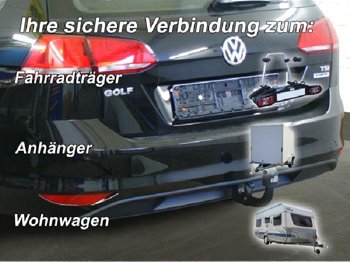 Anhängerkupplung für VW-Golf - 2014-2017 VII Variant Ausf.:  vertikal