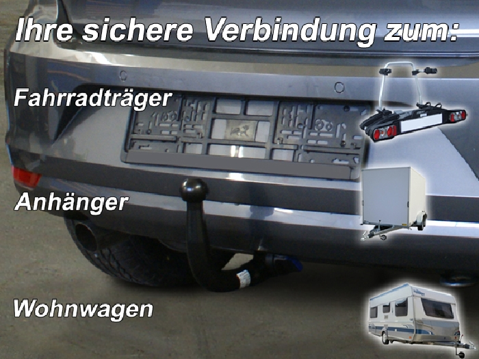 Anhängerkupplung für VW-Polo - 2014-2017 (6C)Steilheck / Coupé Ausf.:  vertikal