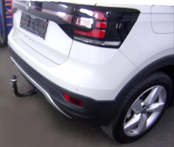Anhängerkupplung für VW-T-Cross - 2019- spez. R-Line Ausf.:  vertikal