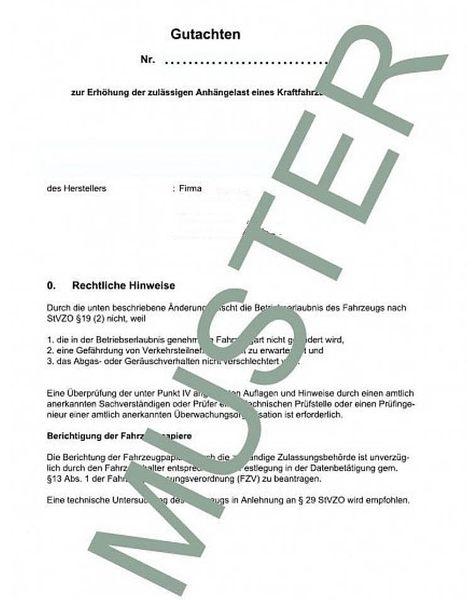 Anhängelast erhöhen Ford Ranger (N1/Typ QJ2R2) 2012- (Gutachten)