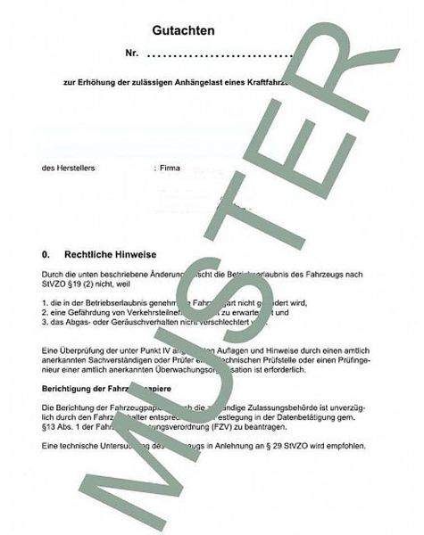 Anhängelast erhöhen Dacia Lodgy (SD) 2012- (Gutachten)